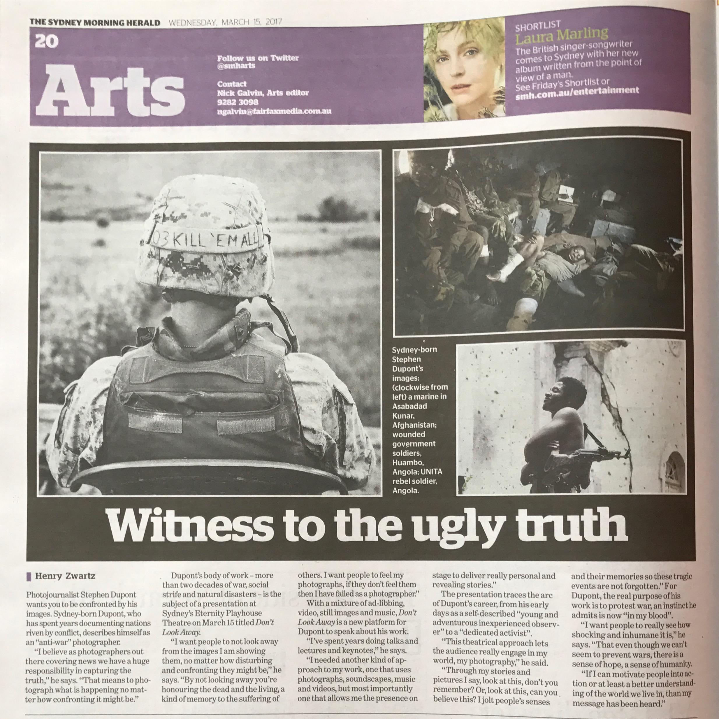 Sydney Morning Herald Arts, March 15, 2017.
