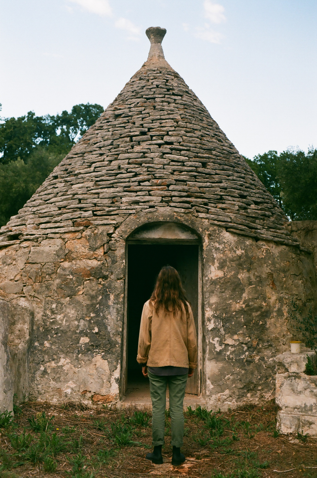 The Trulli: - A traditionaldry stonehutfeaturing a conical roof -Used as a temporary fieldshelter and as tiny abodesfor agricultural workers.