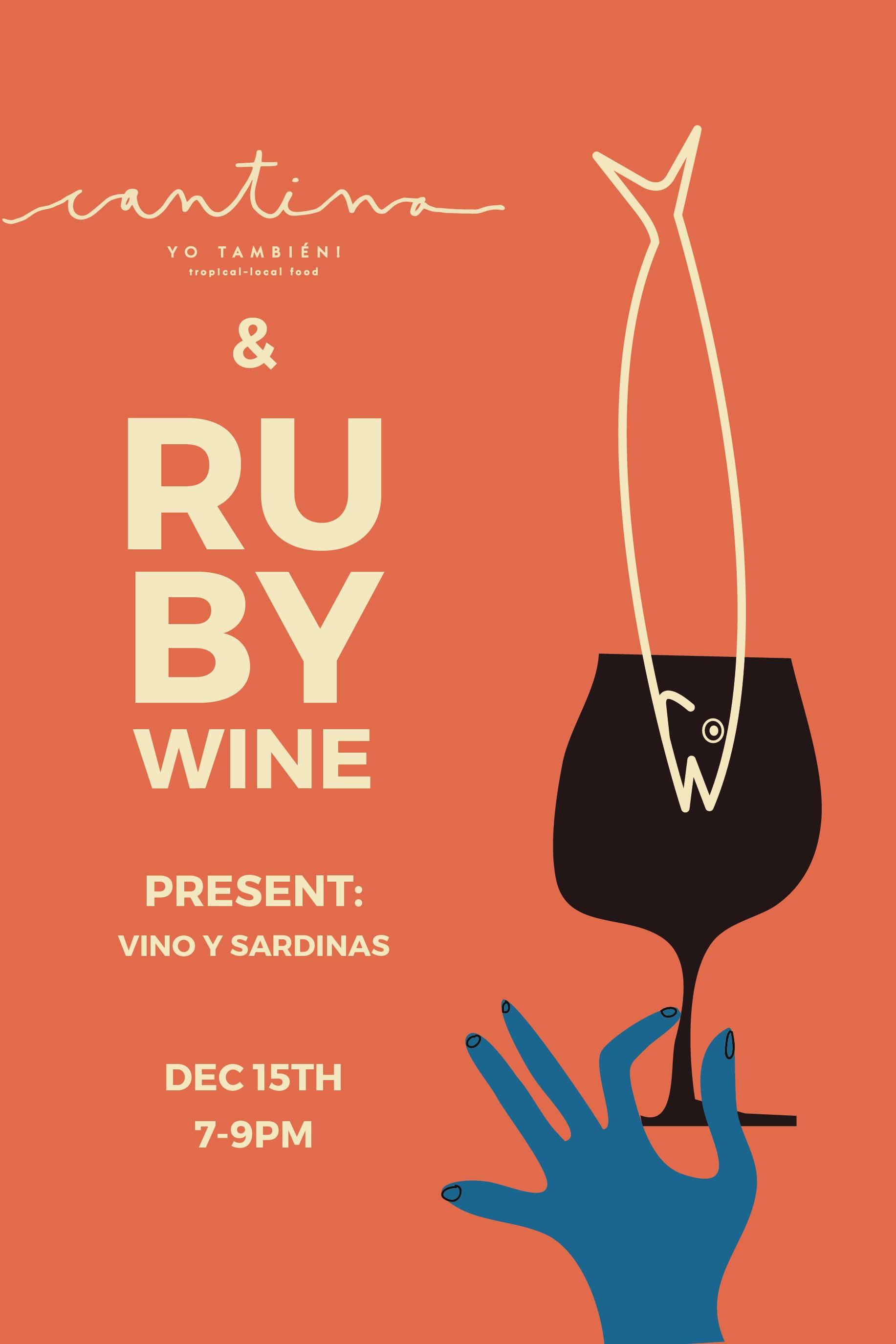 12/15/2018 @ RUBY WINE, SF •CALIFORNIA