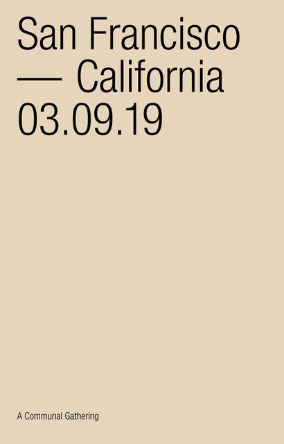 03/09/2019 @ THE CANTINA, SF •CALIFORNIA