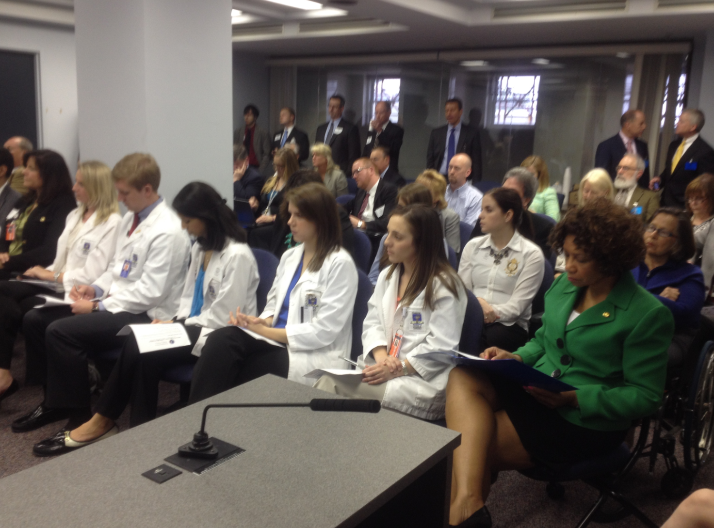 Audience during the Medication Adherence Panel presentation