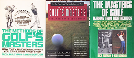"""3 versions of the Aultman-Bowden """"masters of golf"""" book"""
