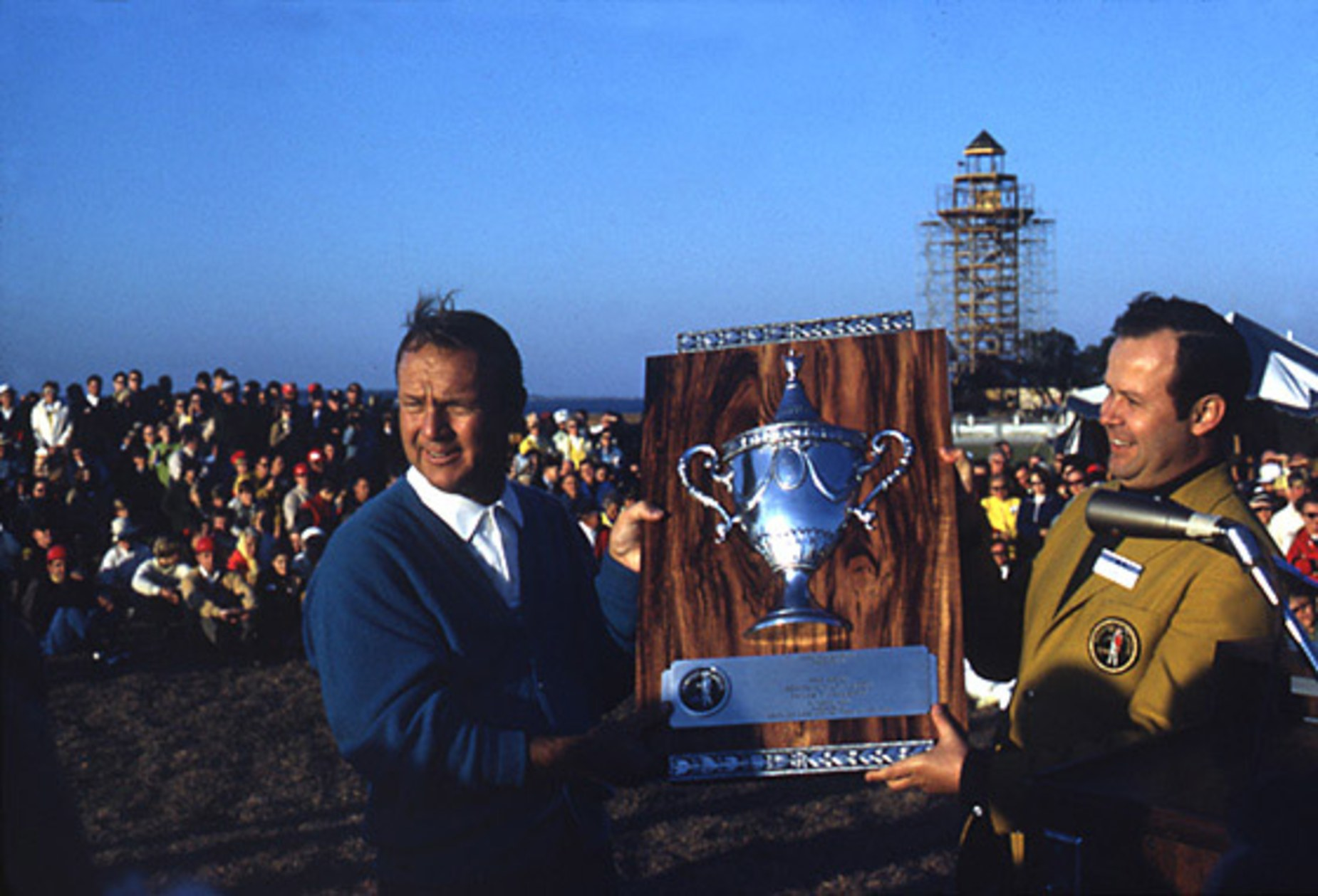 First Heritage winner Palmer, with the unfinished lighthouse in the background.