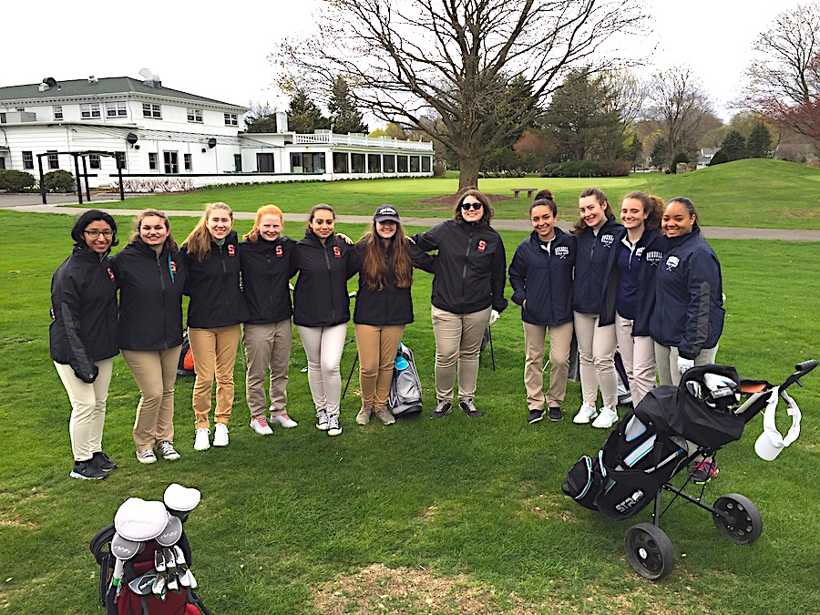 Stratford golfers: Stratford High and Bunnell played a match on April 30 at Mill River.
