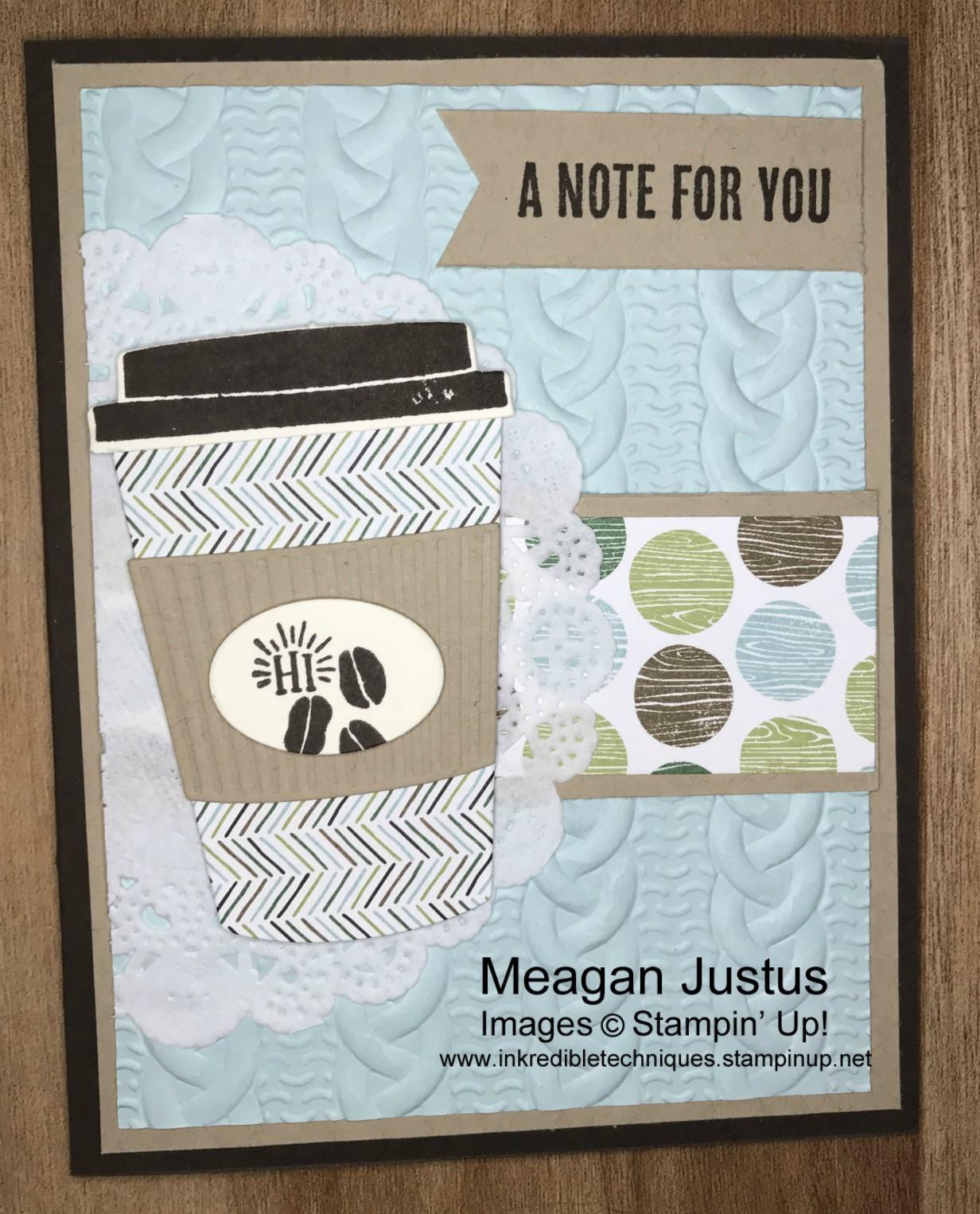 Coffee Cafe Card Tutorial