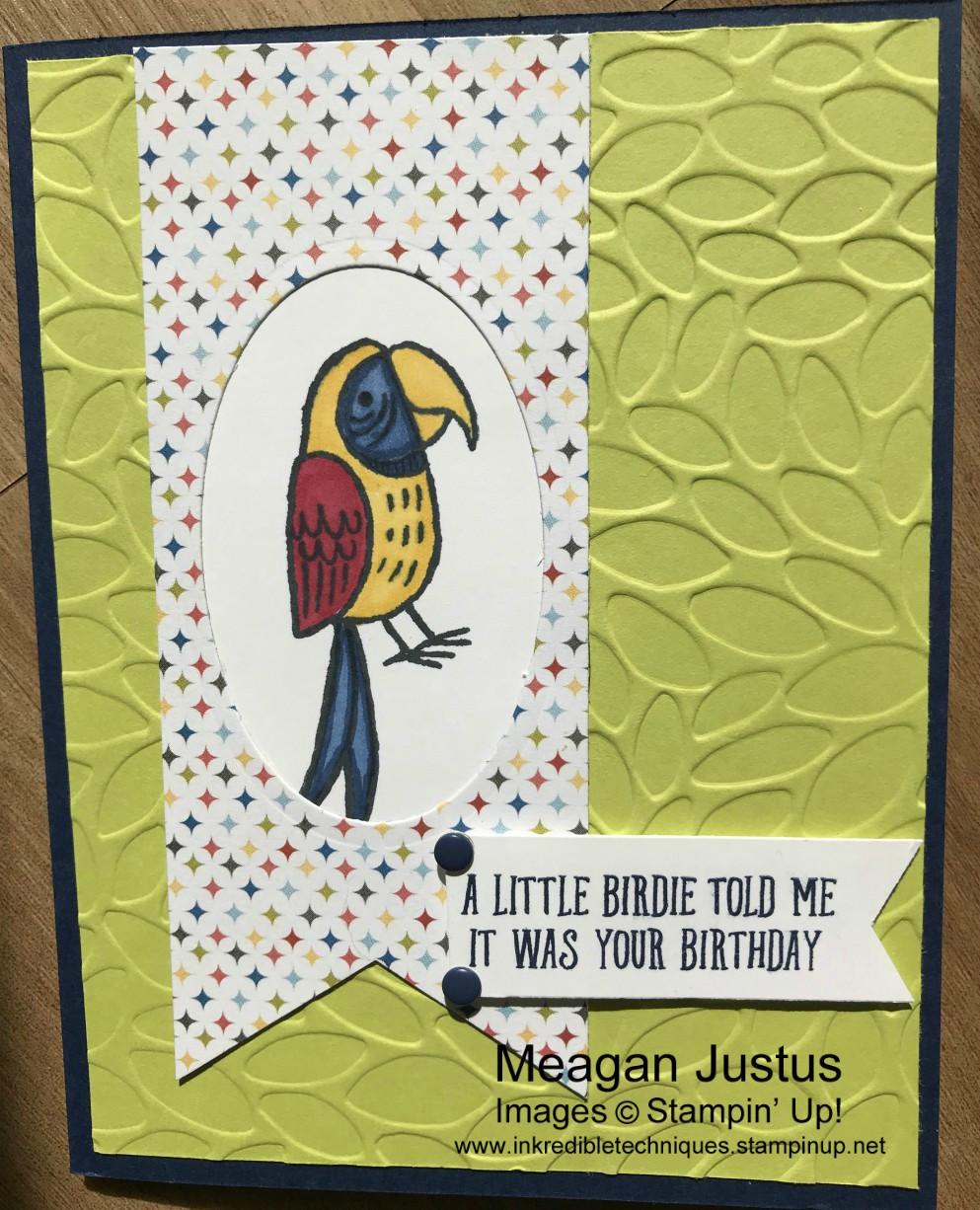 Stampin Up Bird Banter Birthday