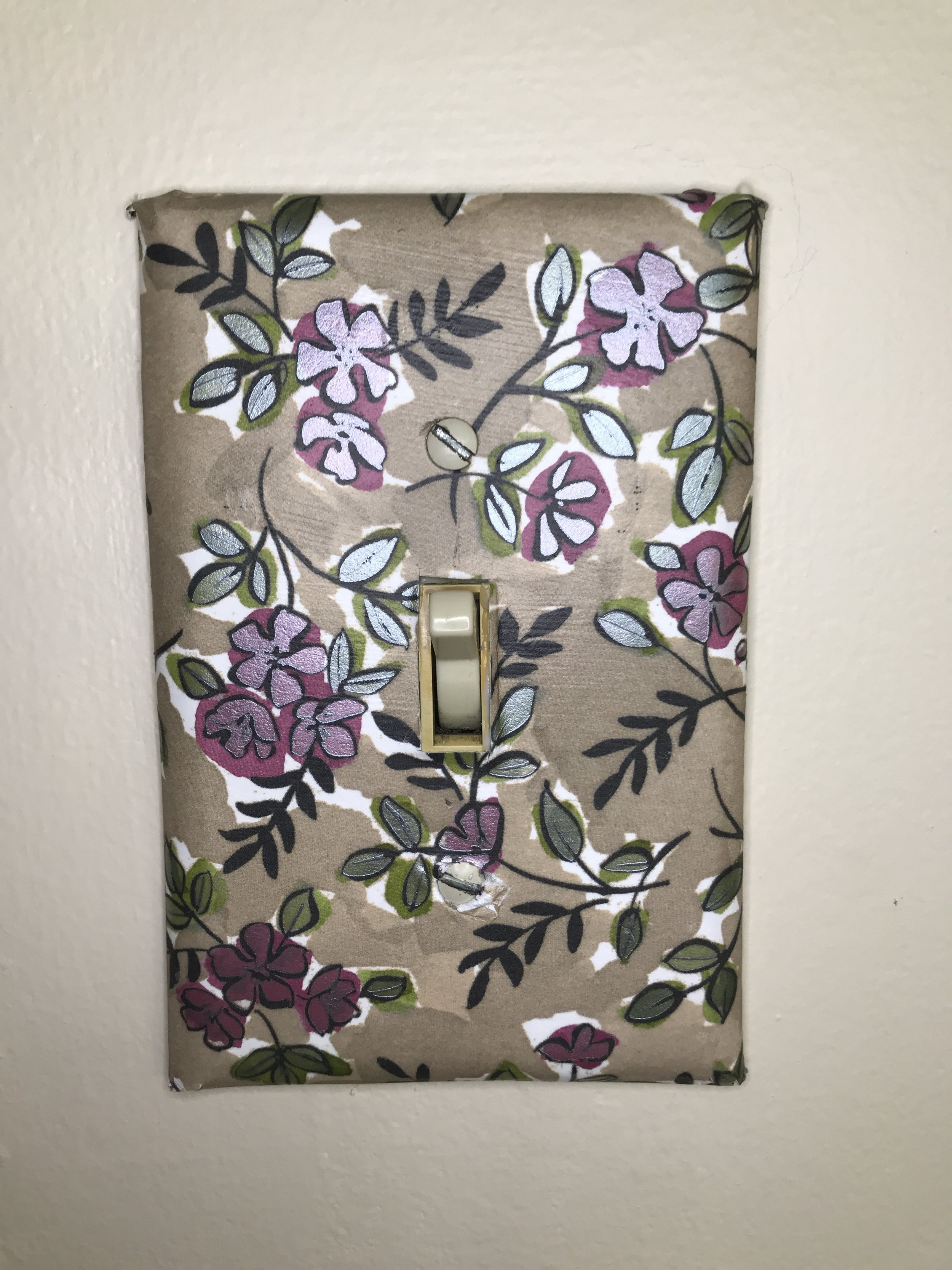 Scrapbook paper home decor