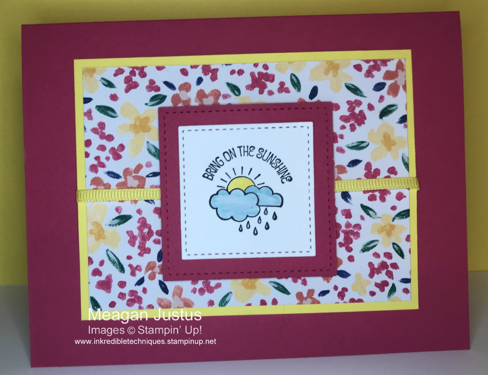 5 Minute Card with A Good Day by Stampin' Up!