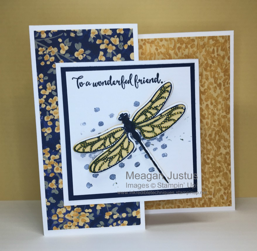 Z Fold Card Featuring Dragonfly Dreams Stamp Set