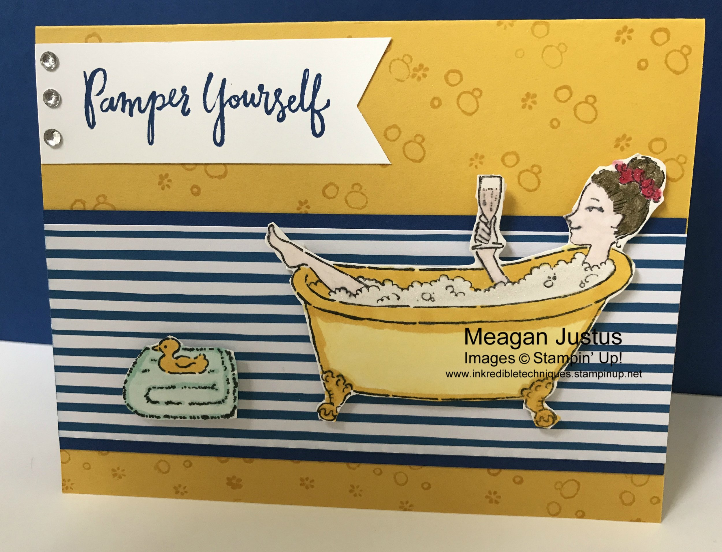 Stampin' Up! Bubbles and Bubbly Card Tutorial