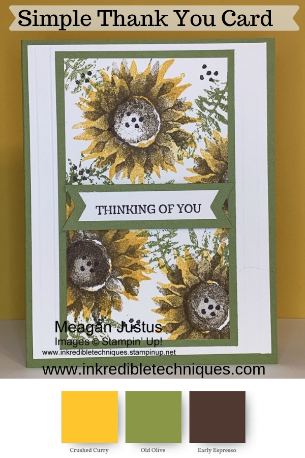 Pinterest Images Sunflower Thank You Card