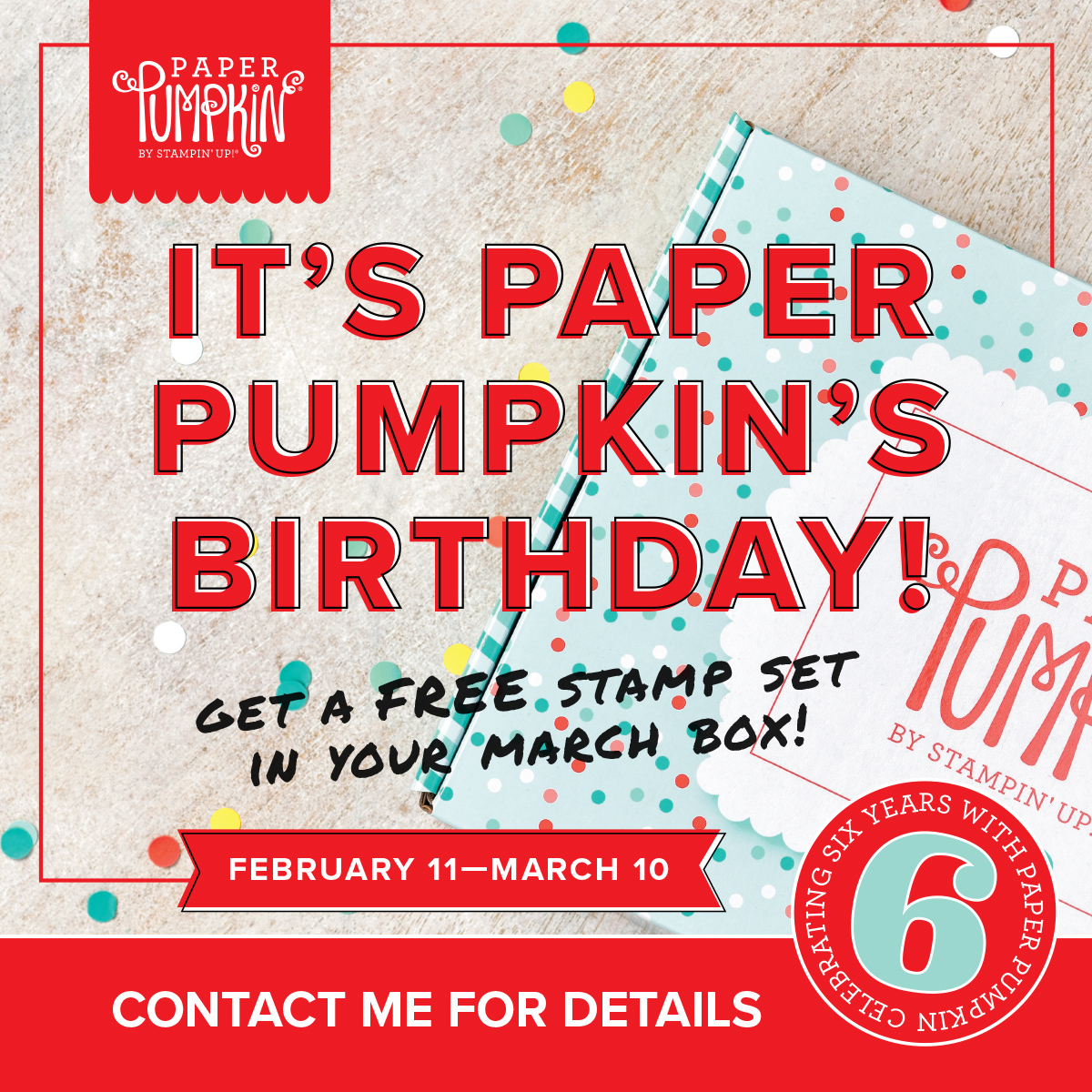 Use this link to order your paper pumpkin kit today!  https://bit.ly/2VMIxMX