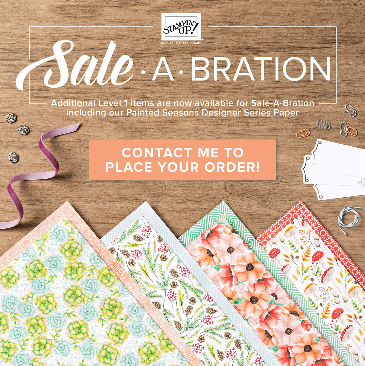 Earn free Paper Craft Supplies with every $50 in purchases through March 31, 2019. Shop 24/7 with Meagan Justus of Inkredible Techniques