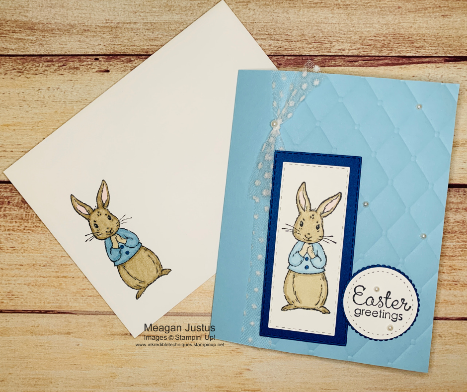 Stampin' Up! Easter Card with Fable Friends! Grab your favorite alcohol markers and watch the video tutorial tips for blending and shading! #inkredibletechniques #eastercards #handmadecards #cardmaking #stampinup #fablefriends