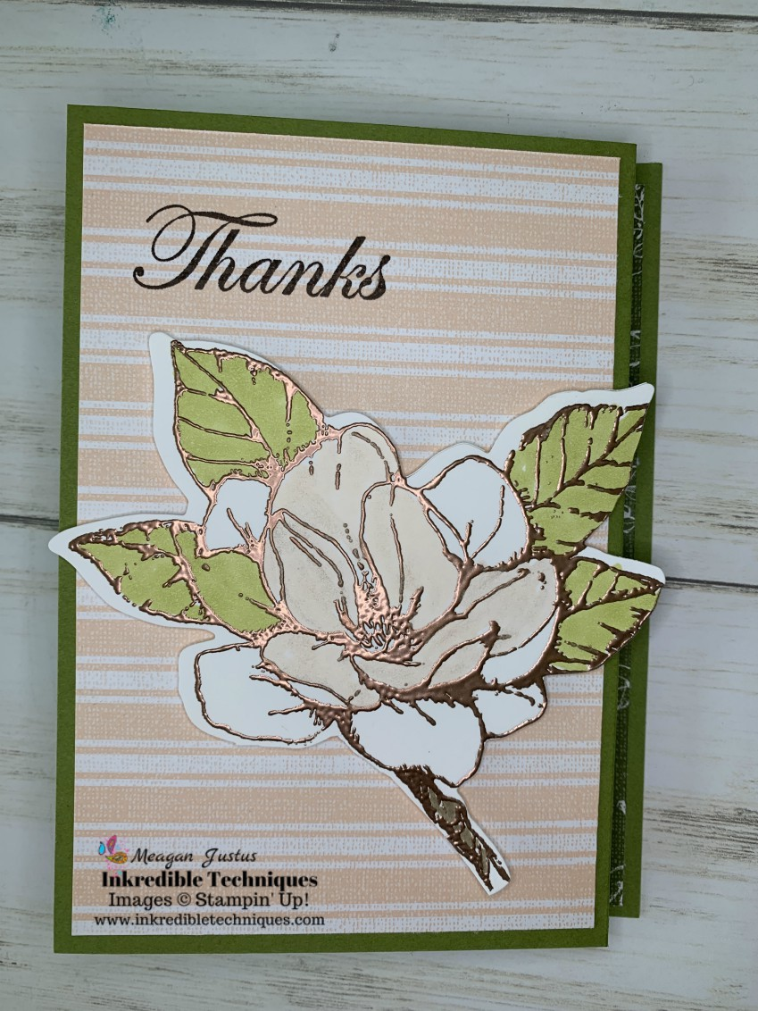 Greeting Card Z-Folds are easy to make and the Stampin' Up! Good Morning Magnolia is the star of the show!