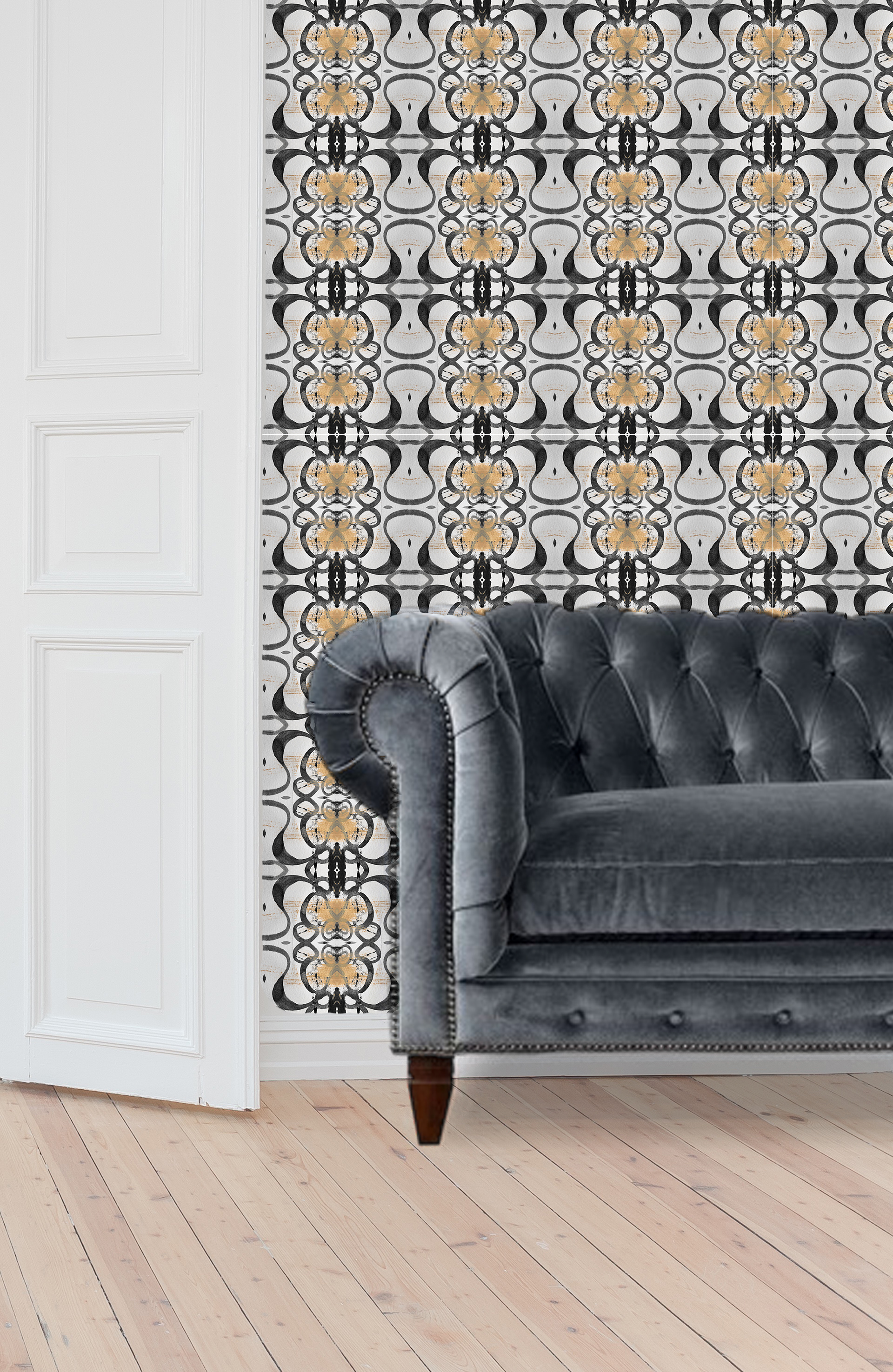 Medina Wallpaper - Gray/Tan