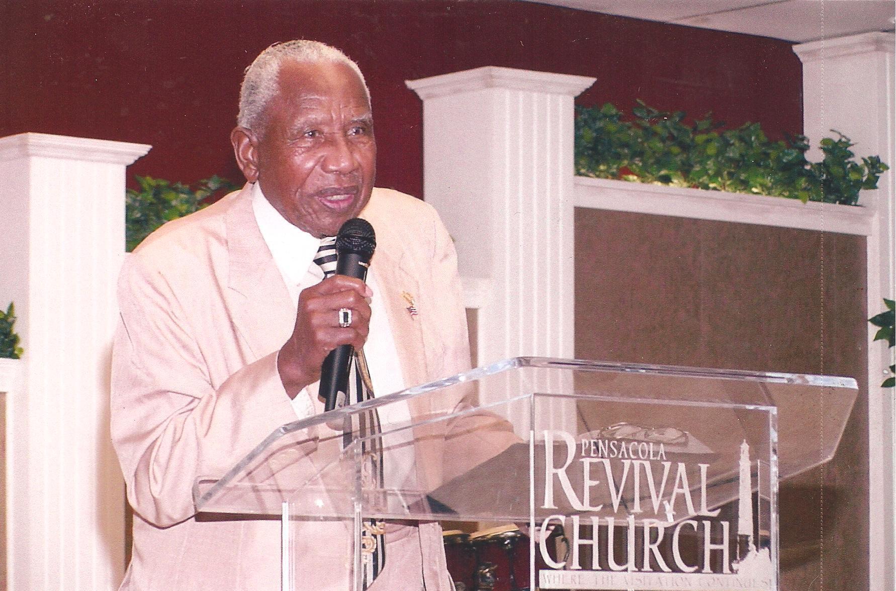 Bishop Clark preaching