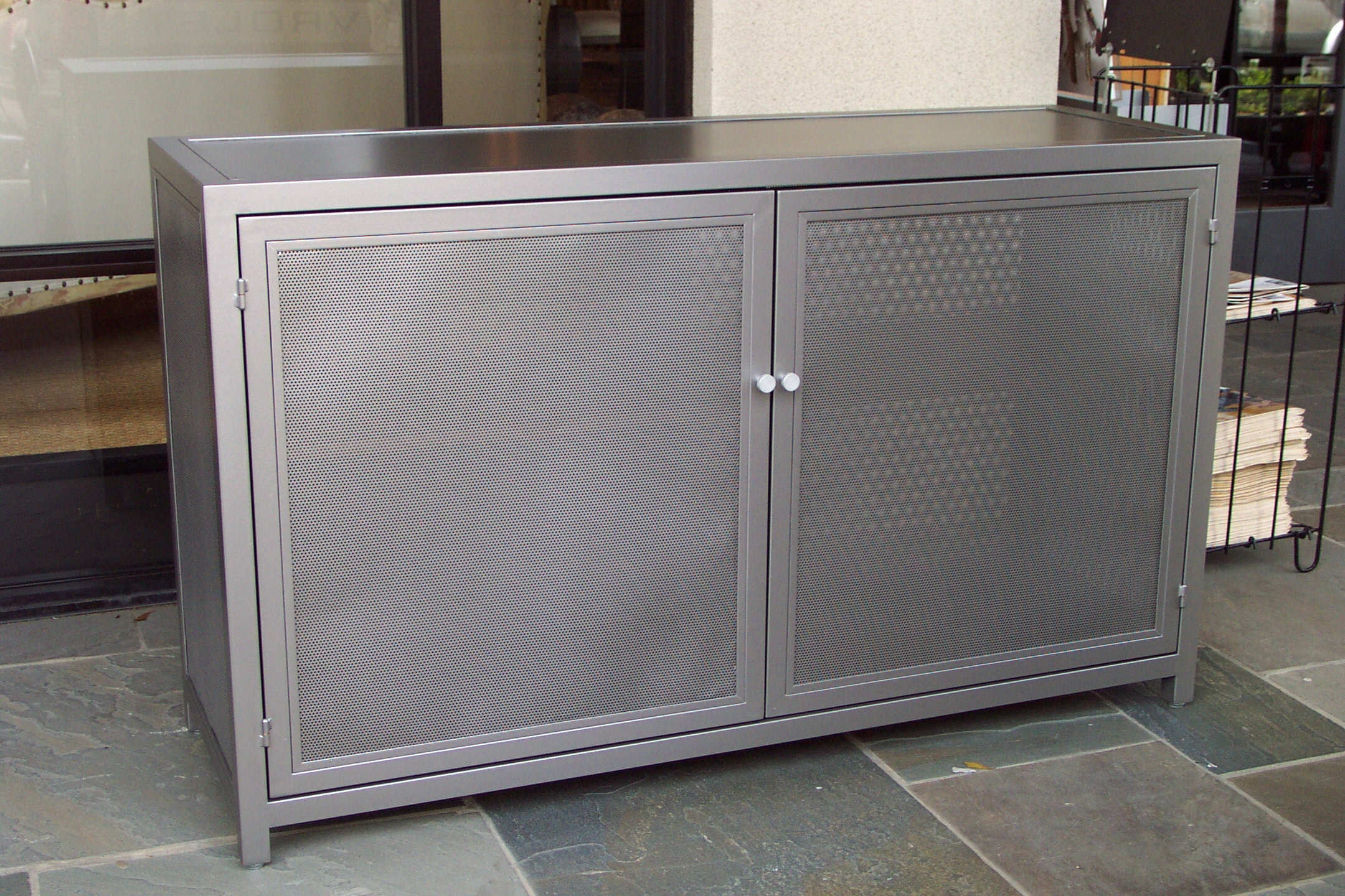 Perforated cabinet