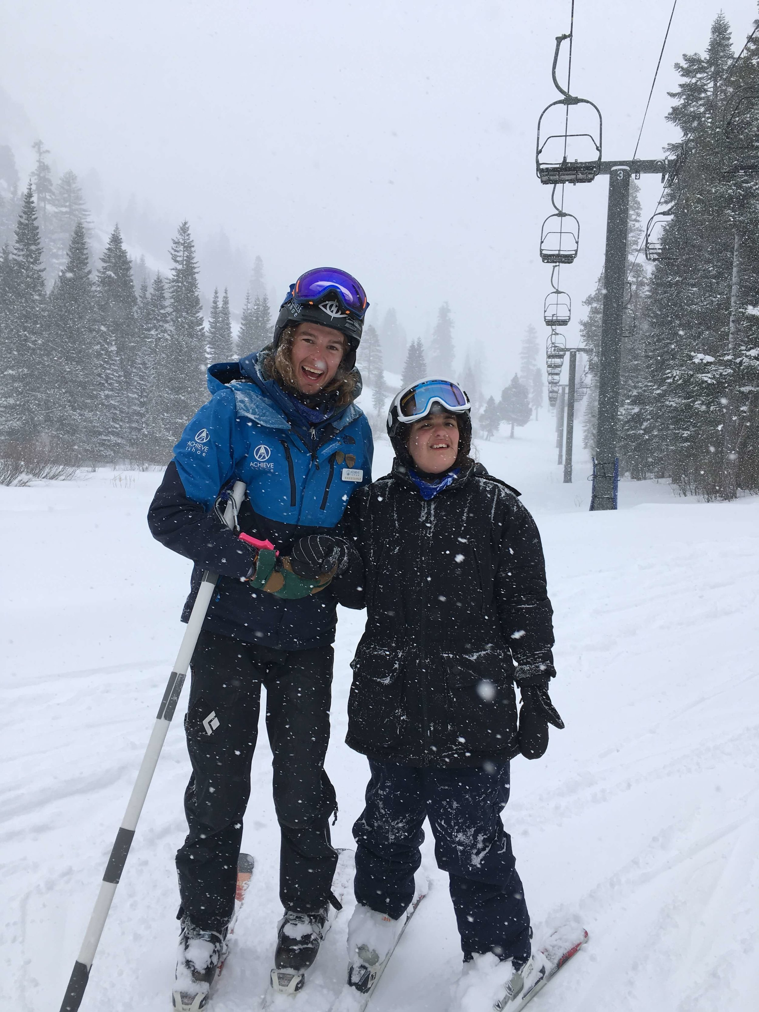 Keegan and Miranda after the 2nd run down the hill.