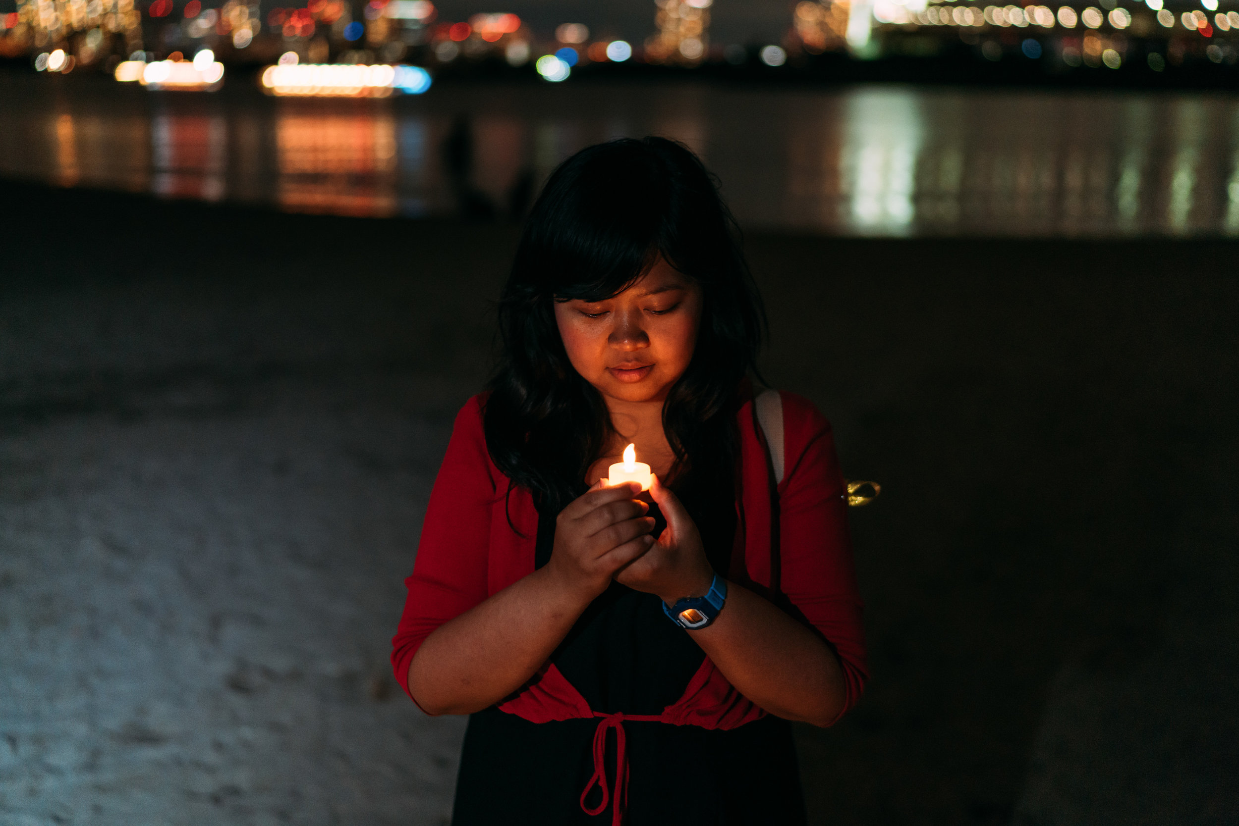 """""""We are differ in a religious beliefs but we are one nation, Indonesia"""" said Rosalina, a participant of 100 Candles From Japan to Indonesia"""