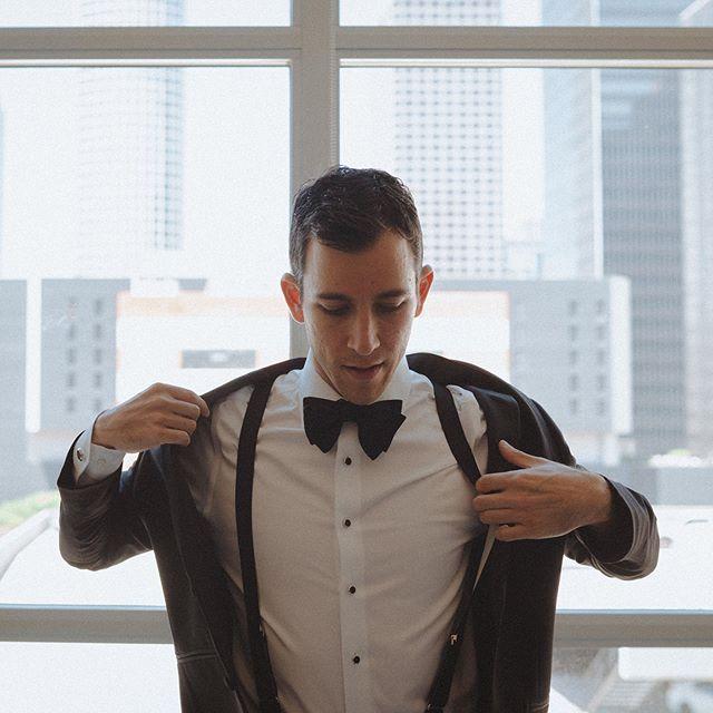 Paul . . .  #laphotographer #weddingphotography #photography #weddingdayready #groom #weddingday #lookslikefilm #groomsuit #bowtie #dtla