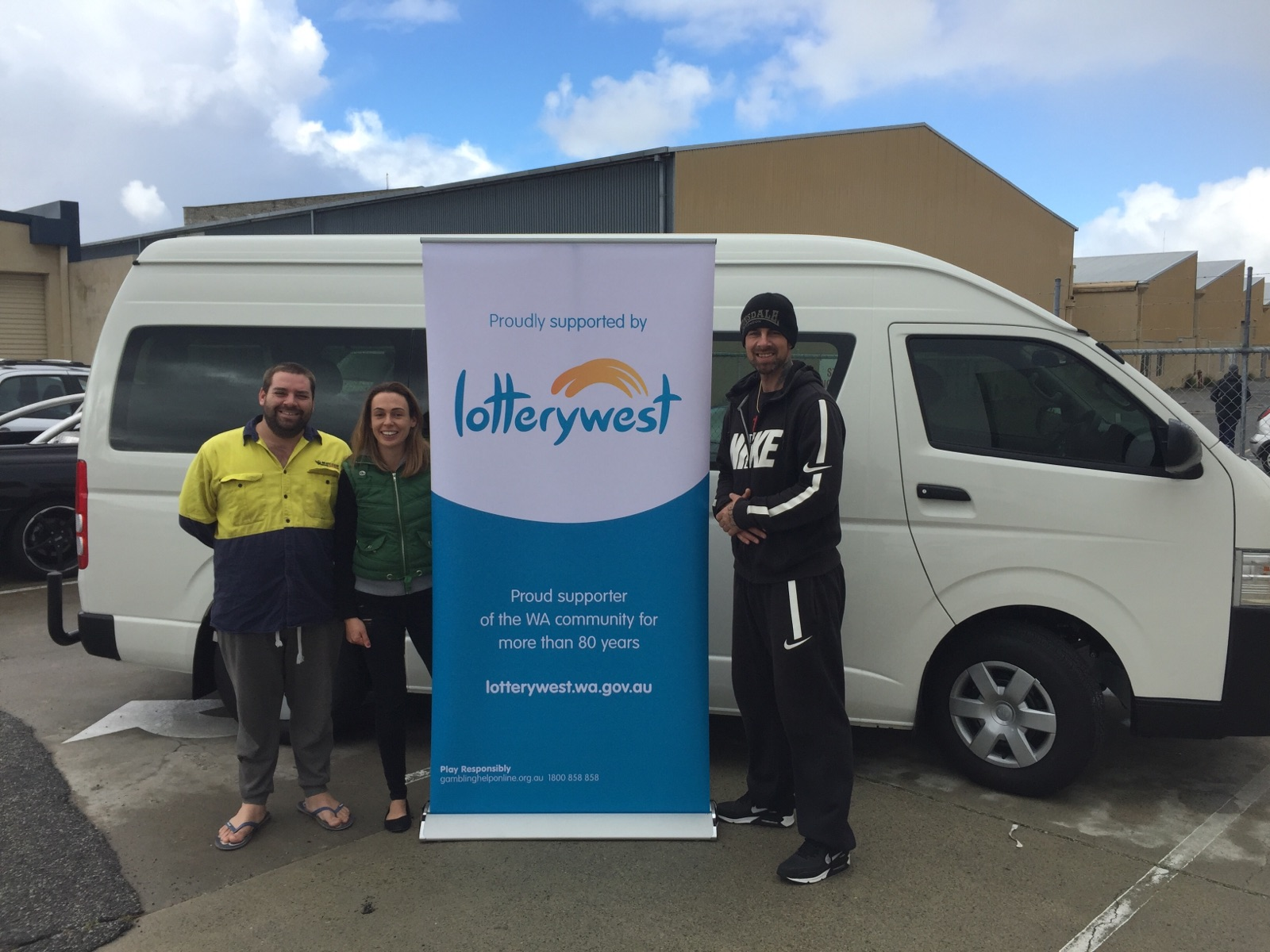 Lotterywest - Thanks to Lotterywest, we now have a 12 seater bus carry residents in the program anywhere we need to go!Lotterywest financially supported the purchase of the vehicle and has assisted us in making a difference in the lives of men willing to make a change! Talk about giving back to the community!