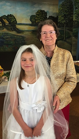 Annie Strysky First Communion Photo with Grandmother Dastous 1.jpg
