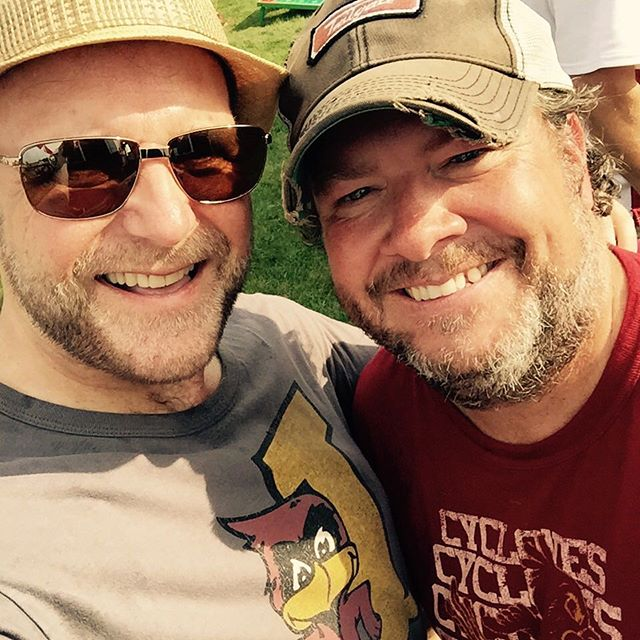 Me and Steve King of @tailgateiowa - the best of company