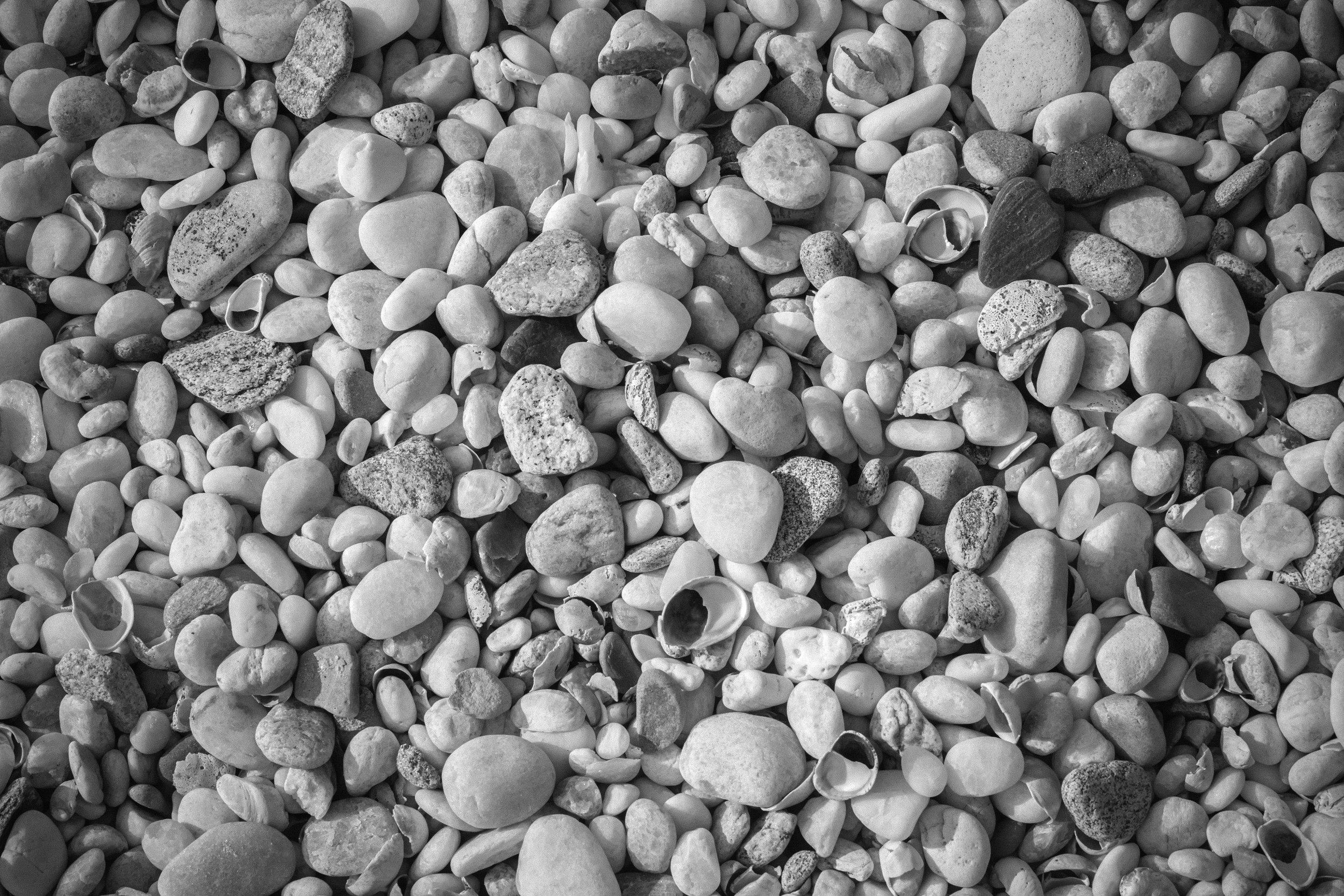 STONES   Pebbles from a shingle beach