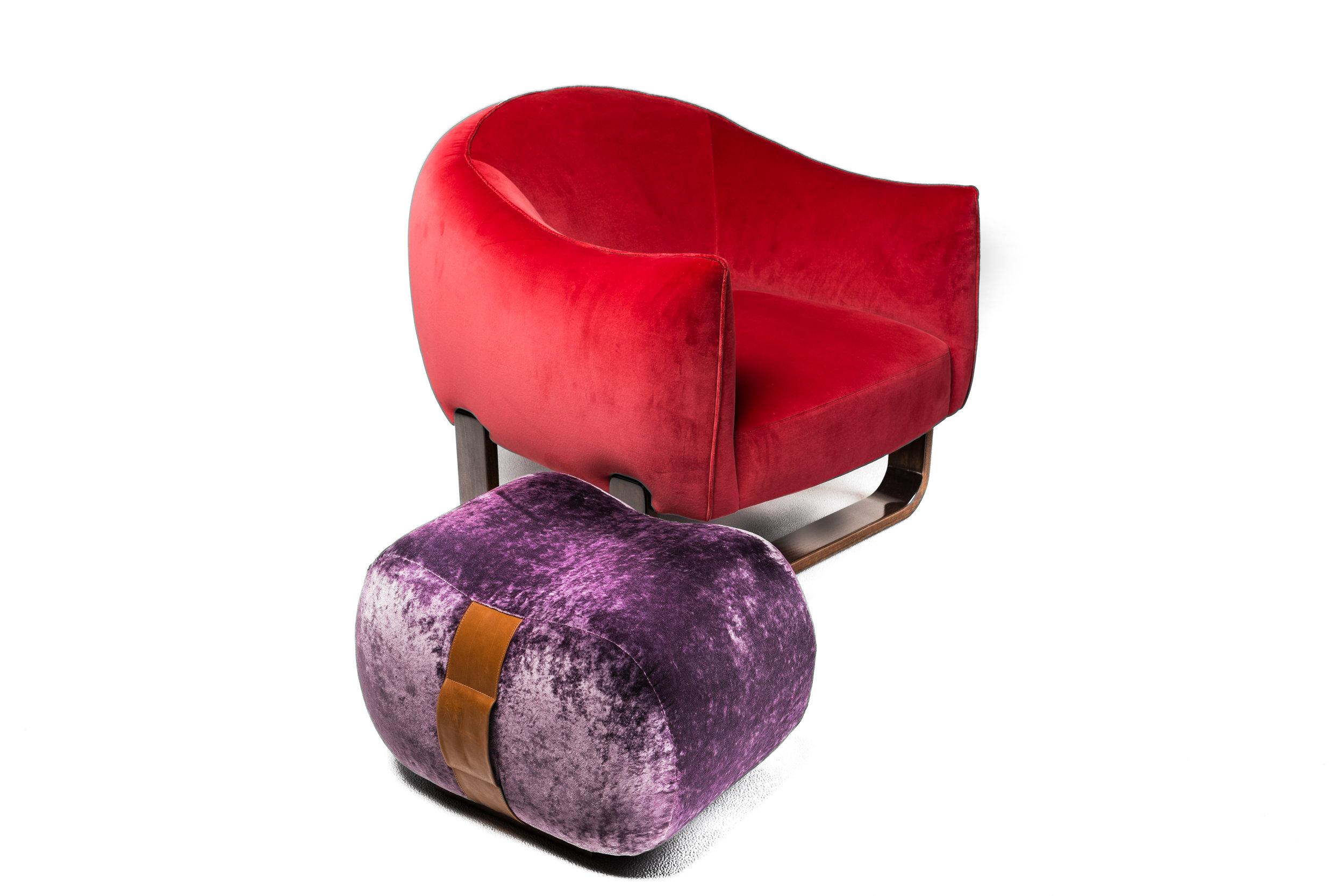 Marie-Burgos-Design. Milo-chair.Milo-ottoman.purple.side.MBcollection.jpg