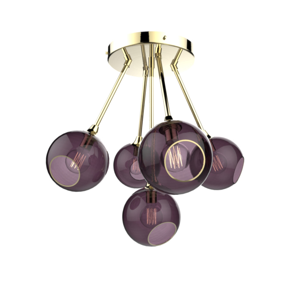 vintage purple and gold light fixture