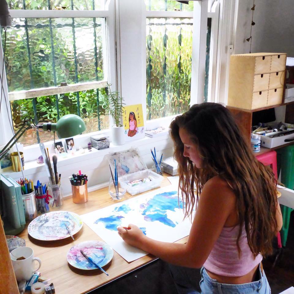 watercolour painting art commission australia