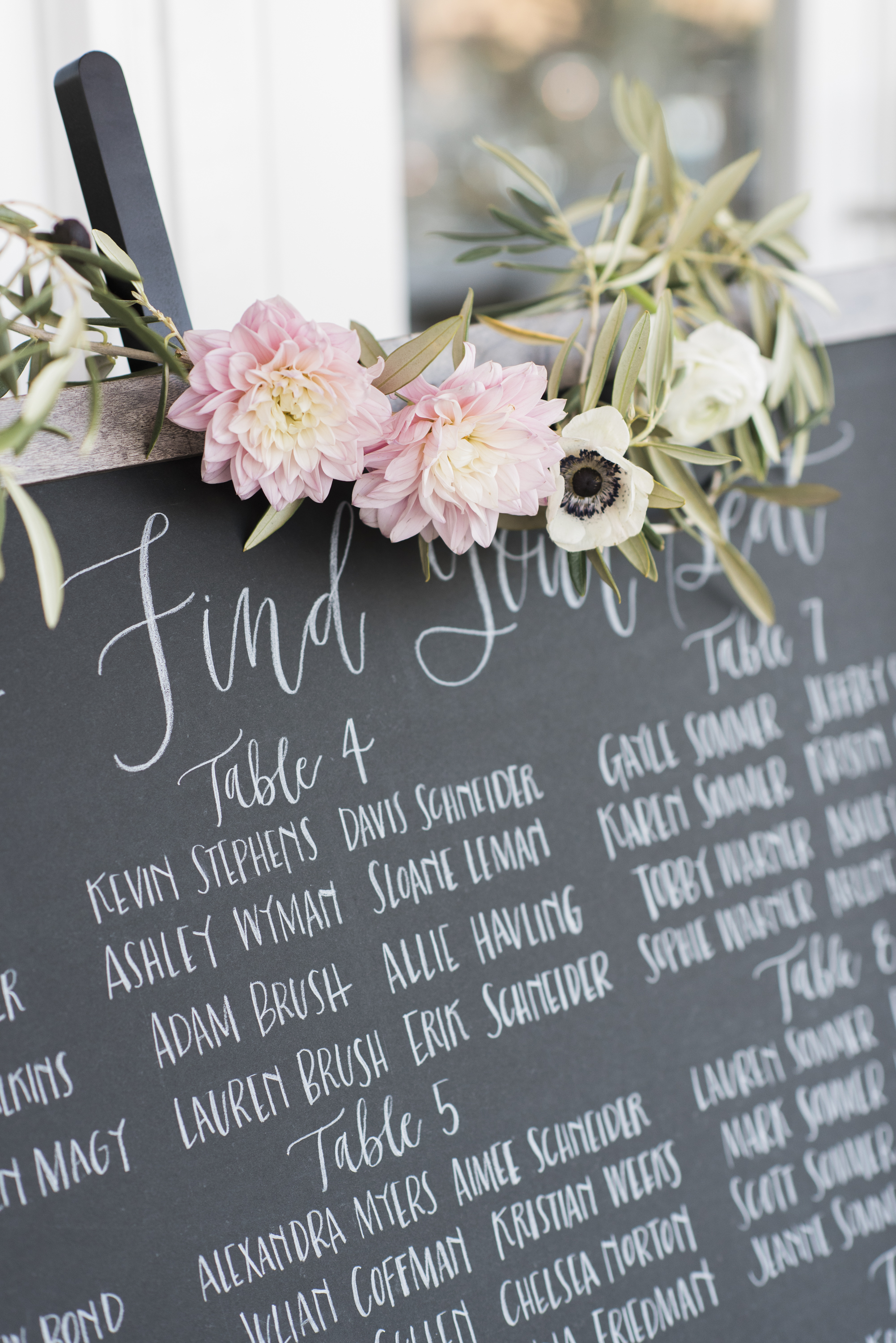 CUSTOM SEATING CHART ON CHALKBOARD | PHOTOGRAPHY  CAITLIN O'REILLY PHOTOGRAPHY