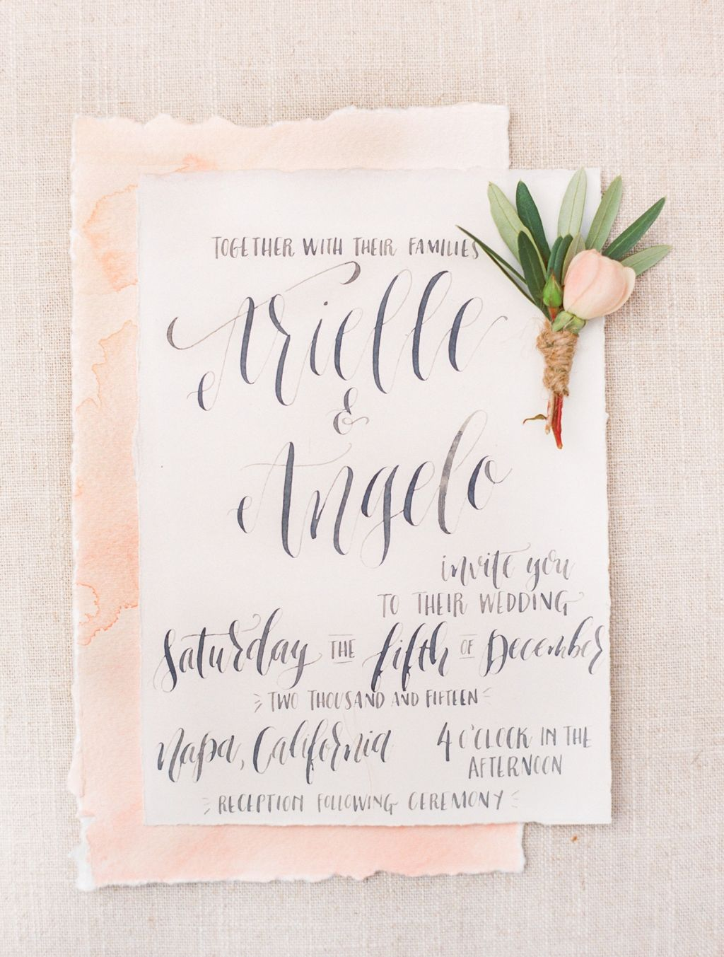 wedding invitations napa