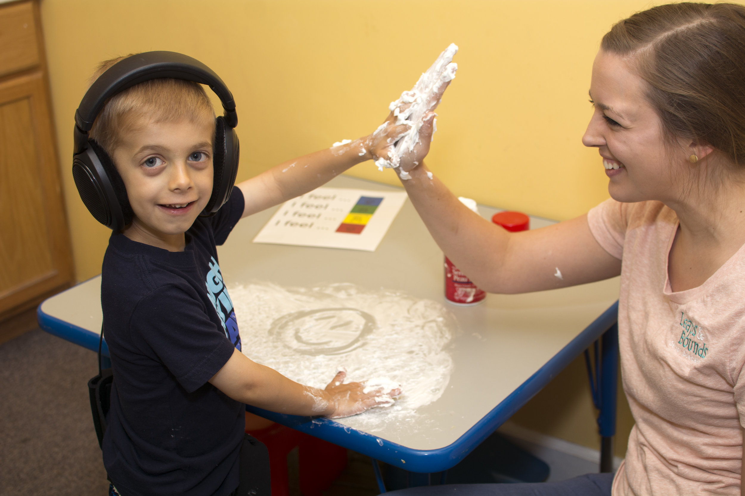 Sensory play at Leaps and Bounds
