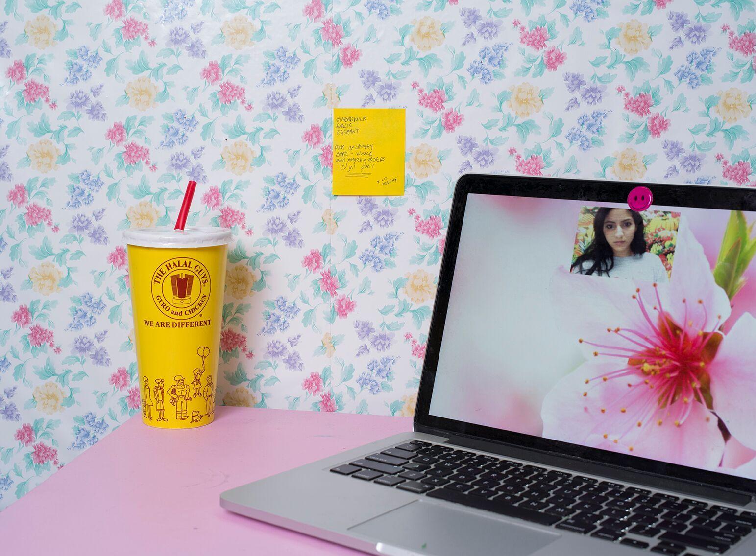Farah al Qasimi,  Still Life with Laptop,  2016