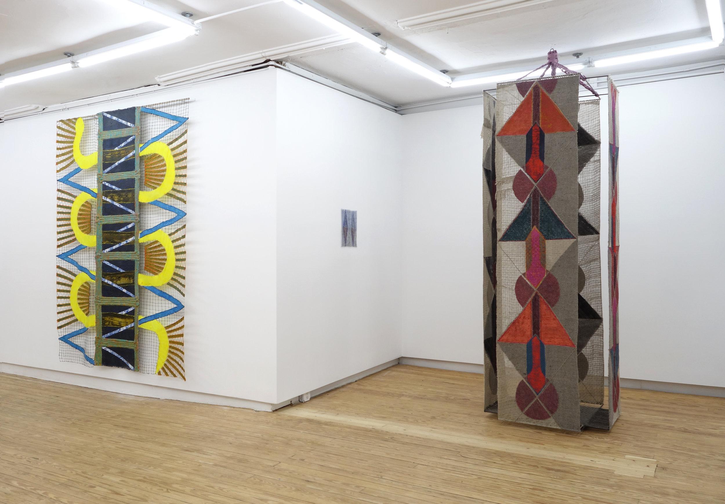 Julia Bland,  Broken Clock (Twice a Day) , 2016 and  Siren , 2018