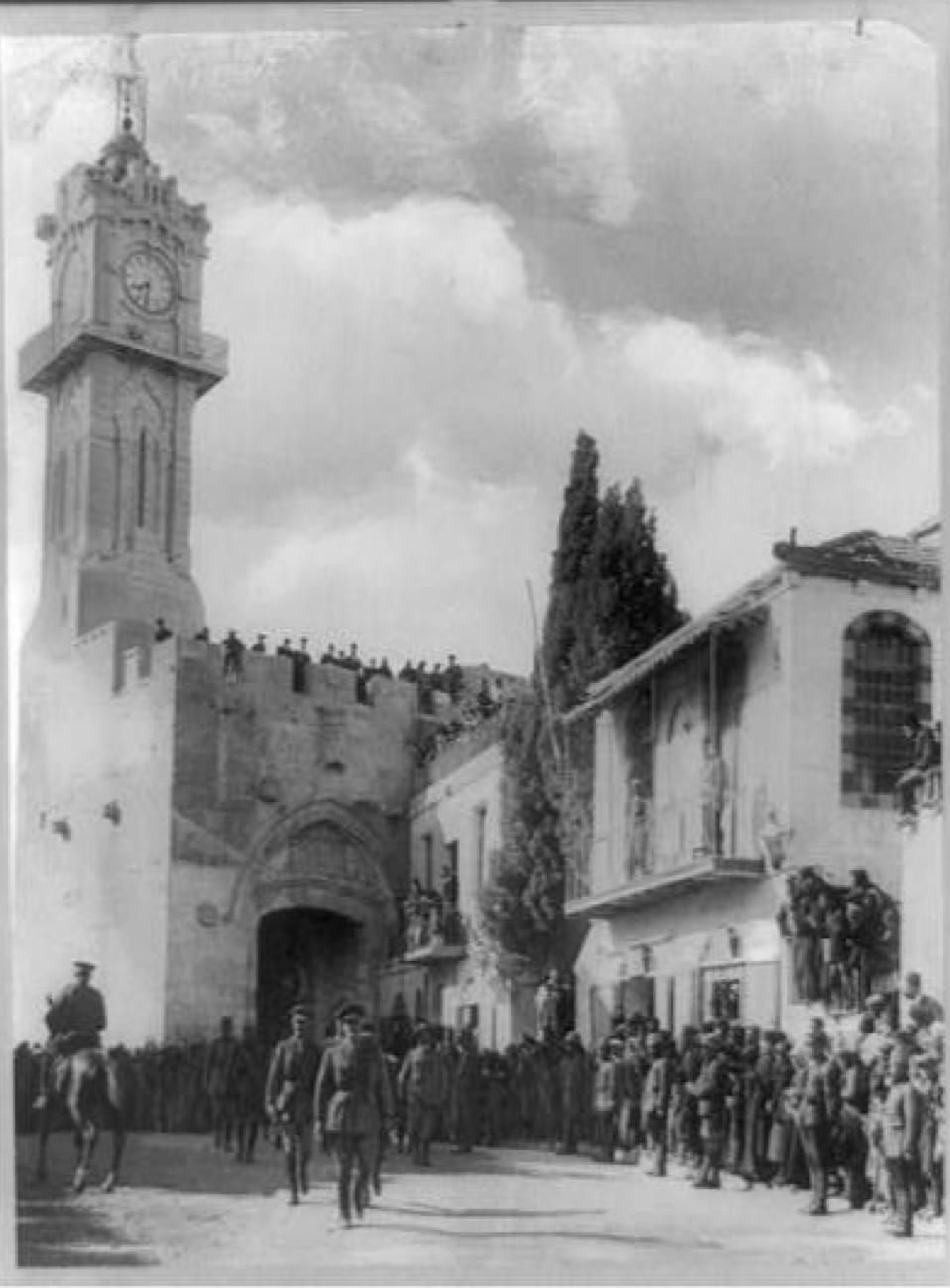 General Allenby's entrance into Jerusalem, December 1917