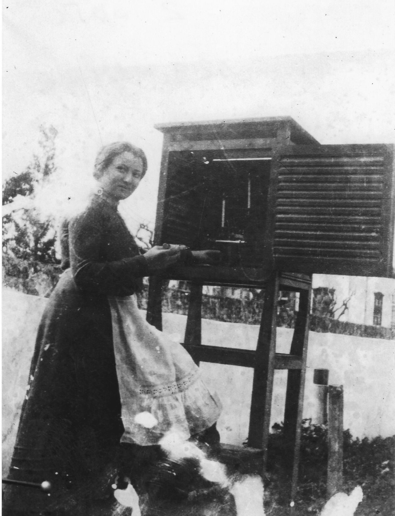 Sarah at the agricultural experiment station, 1917