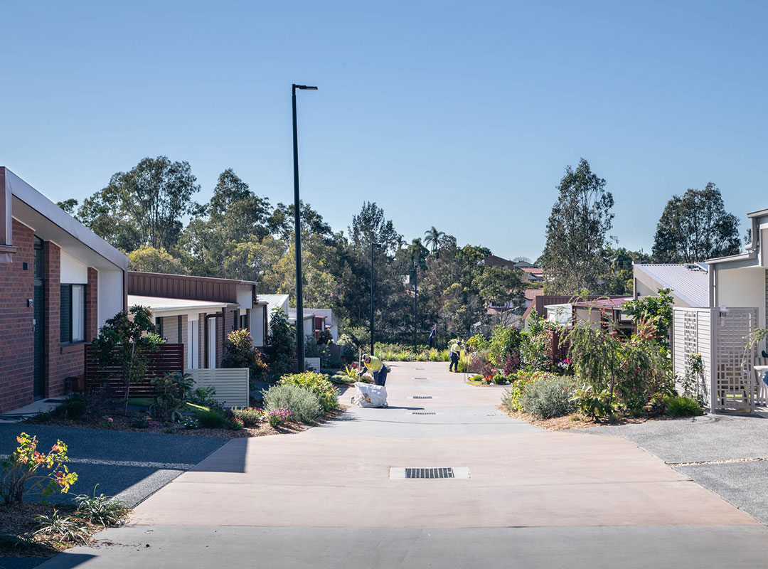 The Village Taigum - A turn key solution from the Energex grid, followed by private reticulation, private intercom, NBN, Street-lighting & Gas infrastructure to 128 units.