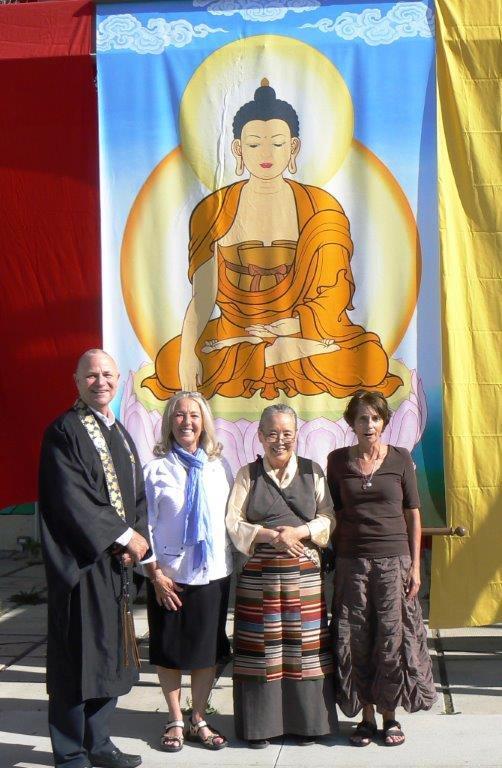 CYMD - Buddha wall hanging, Sensei James, Jayanta, Lynn & Deborah s 2014.jpg