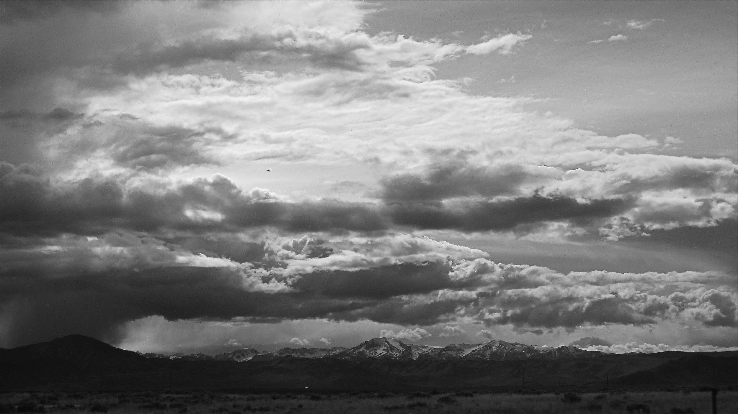 Montana Mountain & Sky BW Is 55-8-9.JPG