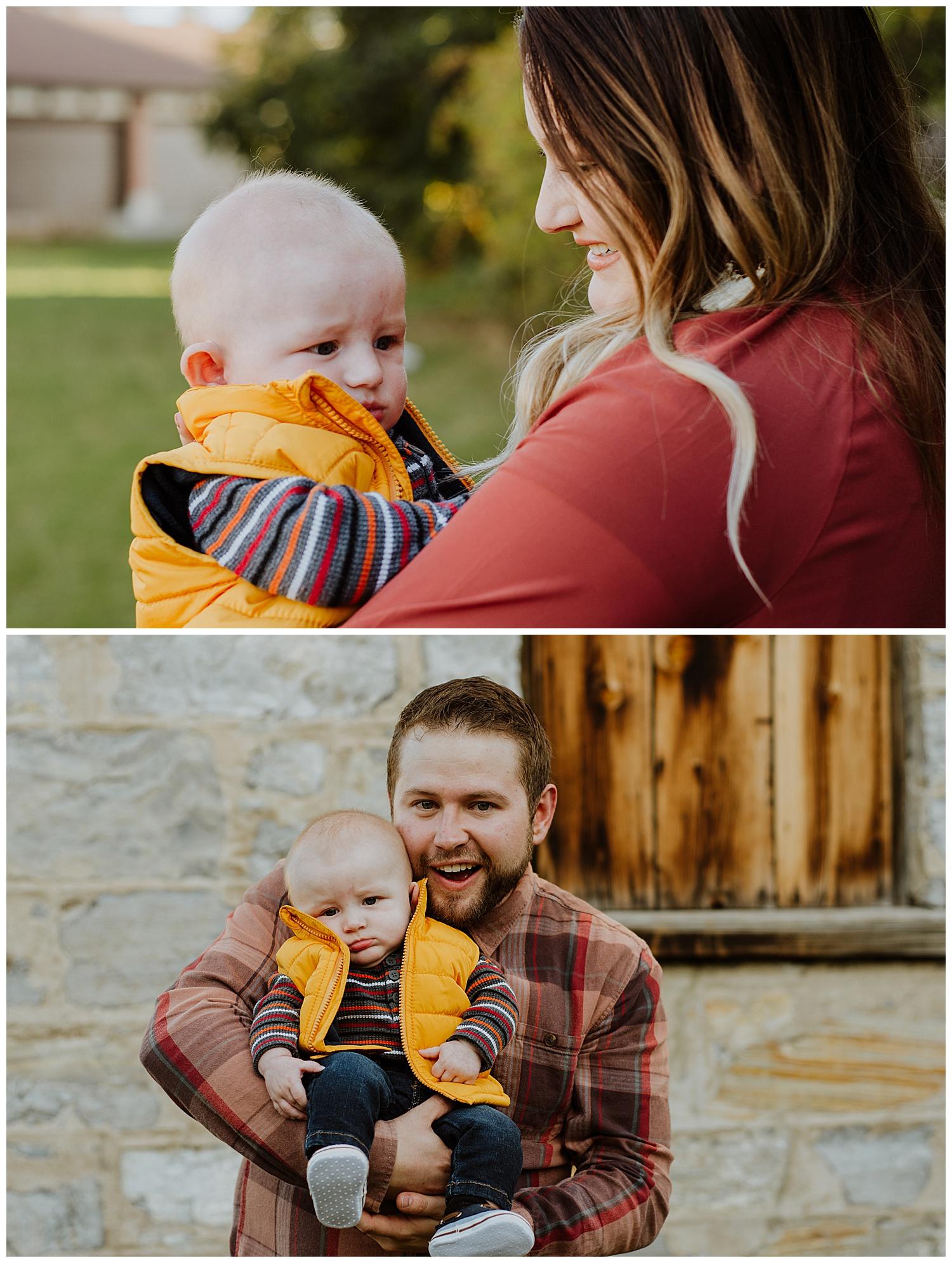Logan Utah Temple Barn Family Photography Session