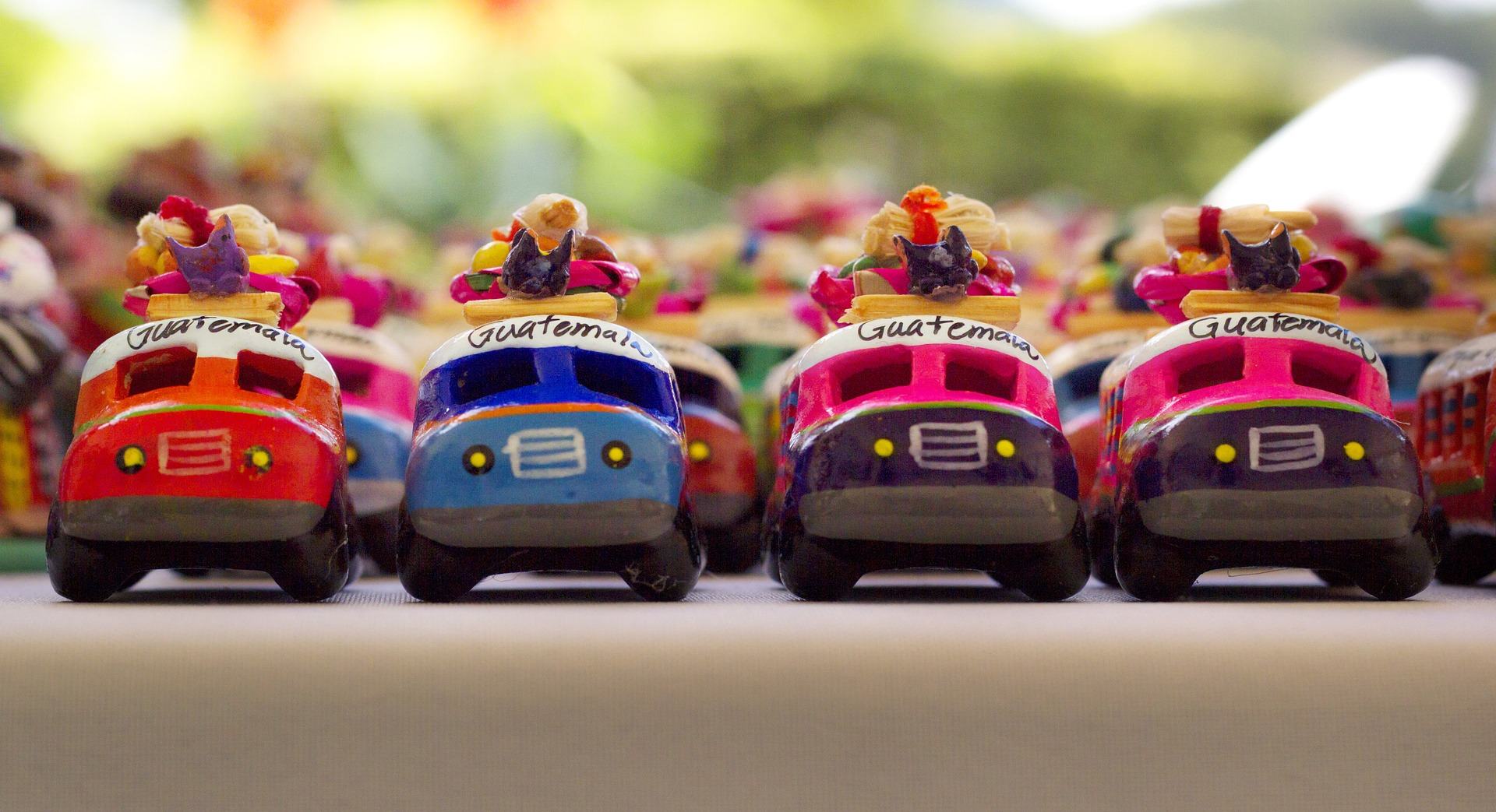 Toy buses from Guatemala