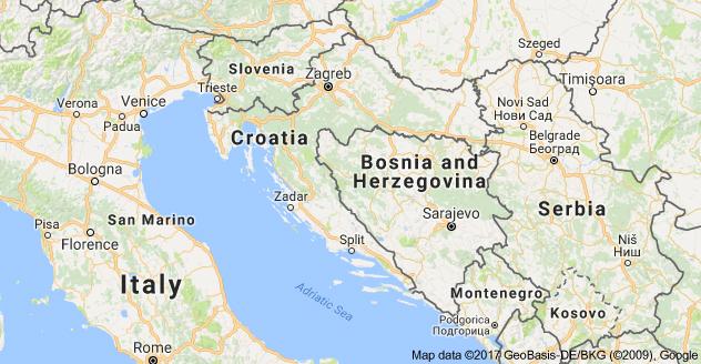 Map depicting Croatia