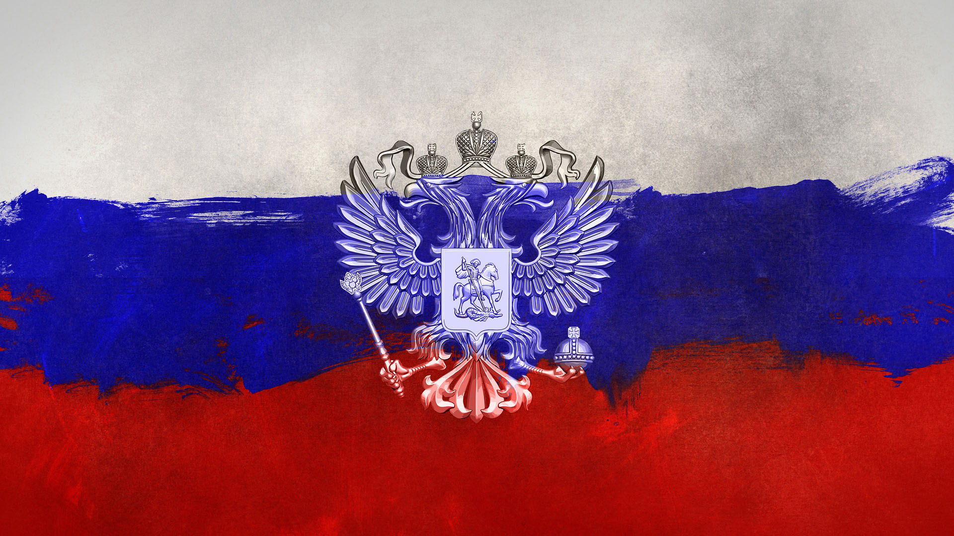 A painted version of a Russian flag