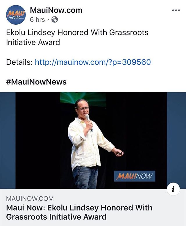 So proud of all that he does and has been recognized for it!! He's very deserving of this award.  Congratulations. I'm so proud of you Ekolu!  #polanuihiu