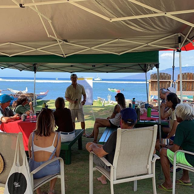 Ekolu and Manuel from TNC  leads the discussion on Lahaina Fisheries Management Area (FMA) Conservation Action Plan which spans 8 miles of coastline from Launiupoko to Pu'u Keka'a.  Part of the process includes Reef resilience principles, fisheries and management in Lahaina.  Mahalo to the participants who joined us today. #polanuihiu #maukarestoration #lahaina #maui #malamakai #CAP #conservationefforts #protectourreefs