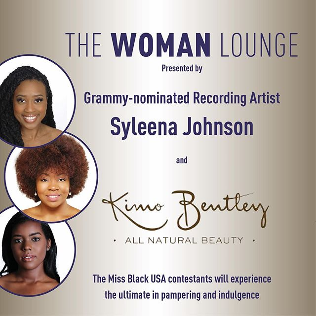 In less than 3 weeks the Miss Black USA contestants will arrive in DC.  Our Queens will be spoiled and pampered in The WOMAN Lounge sponsored by Grammy-nominated Recording Artist and Daytime Talk Host Syleena Johnson and @kimobentley All Natural Beauty. . The ladies will have the ultimate spa experience and indulge in self care. #missblackusa #blackpageants #blackpageantqueens