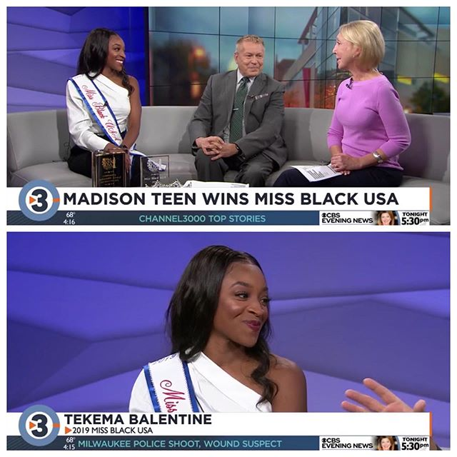 Momma said there would be days like this. . . So grateful for this opportunity to be your Miss Black USA. .  Thank you to all of my people, sponsors and supporters in Madison. .  Thank you to the Miss Back USA Organization for providing me and brown girls like me the opportunity to make an impact, amplify my voice and showcase Black Girl magic on a national and international level.  I'm beyond excited for my year-long reign. It's already been magical. .  Thank you to all our fans and supporters, partners and sponsors, this is your reign too. .  Let's go!👑